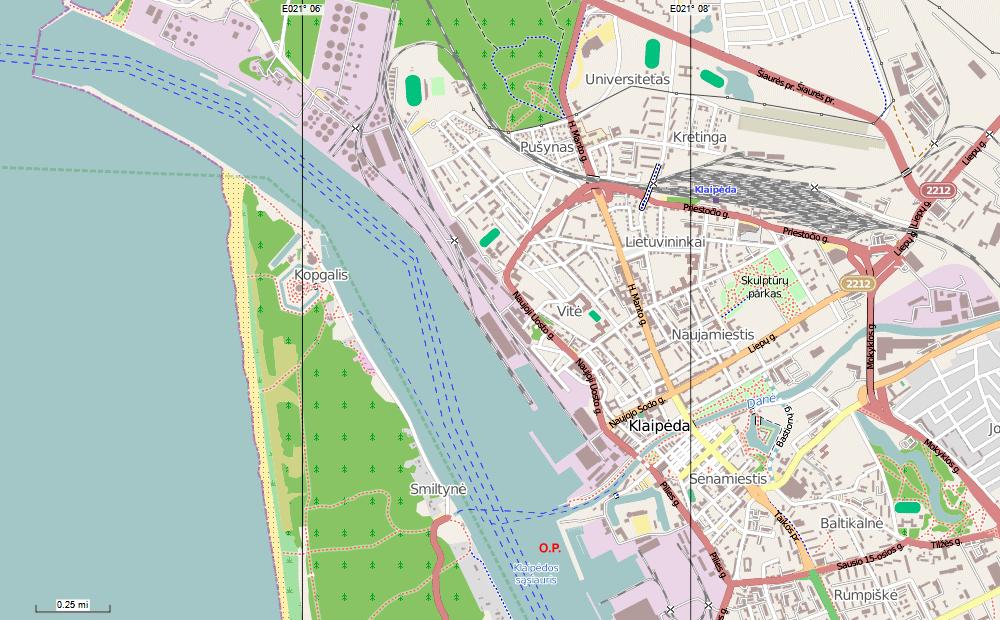 Ocean Princess Cruise - Klaipėda map